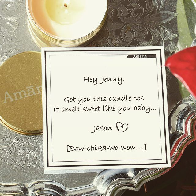 Personalised Cards and a sweet scented Amaaria candle....perfect for the ladies