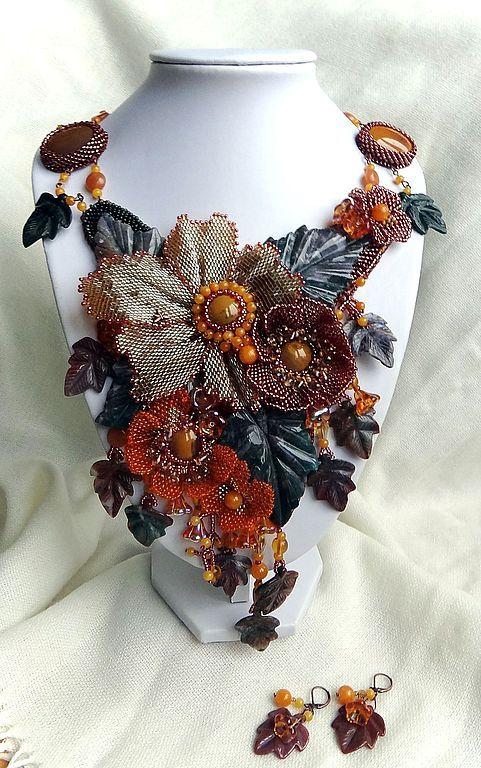 Wonderful bead embroidered jewellery by Irina Chikineva.