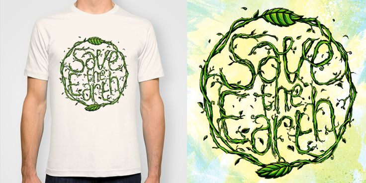 """Save The Earth"" t-shirt design by jipanji"