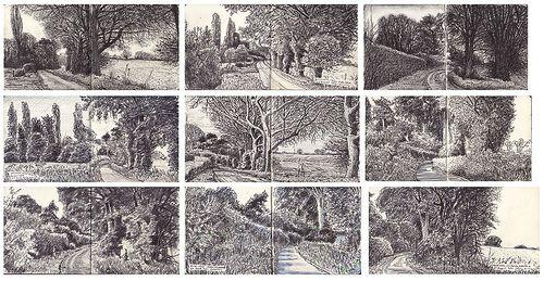 Quiet Lane Ipsden, studies over nine months