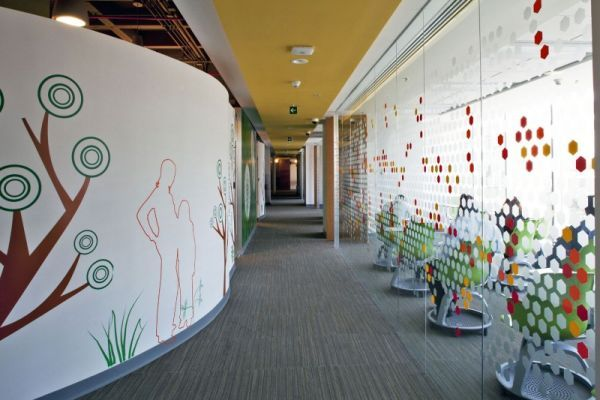 COLOUR corporate office interior design by Space Architecture