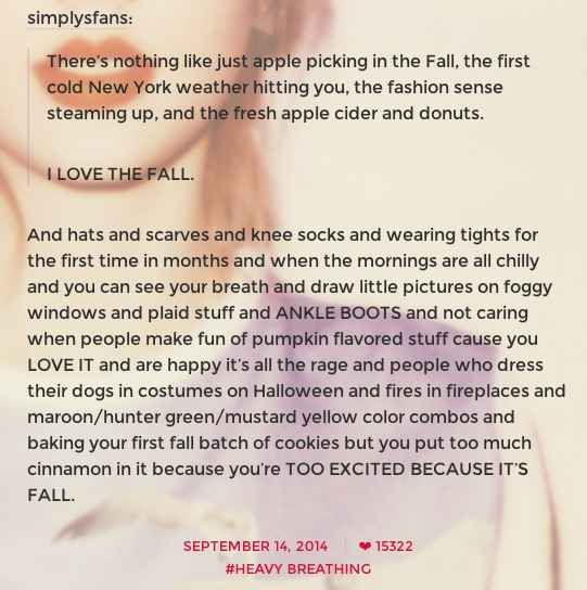 Taylor just talks about what she loves. And she is so excited. | Taylor Swift's Tumblr Is The Happiest Place On The Internet And This Is Why