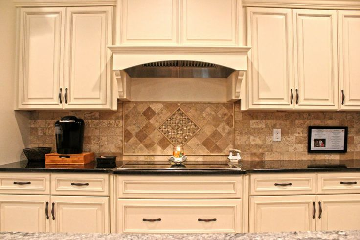 tone granite tumbled stone backsplash in ivory and pinteres