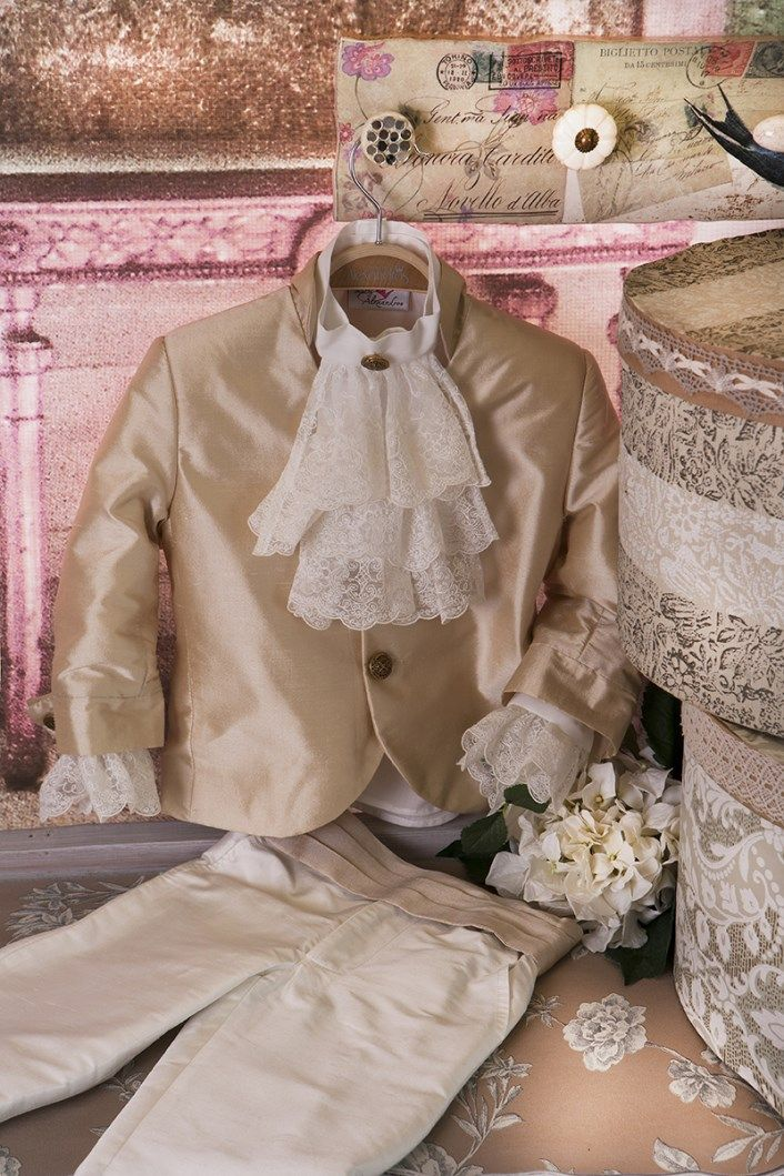 Christening Suit Baptism Suit  Sty.No G 1012-1 www.babyhautecouture.com
