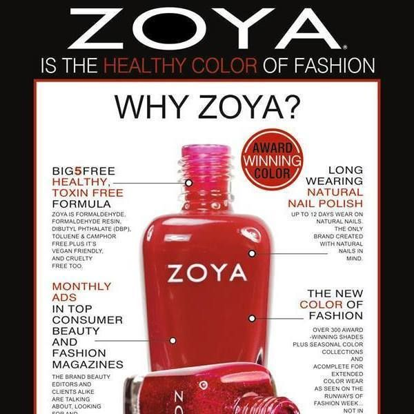 ZOYA IS THE HEALTHY COLOR OF FASHION  WHY ZOYA ? Ζoya Nail Polishes Greece Αμφιλοχίας 24 - Περιστέρι 210 5055829 www.zoya.com #Zoya# #WHYZOYA #ZOYAISTHEHEALTHYCOLOROFFASHION #zoyaperisteri