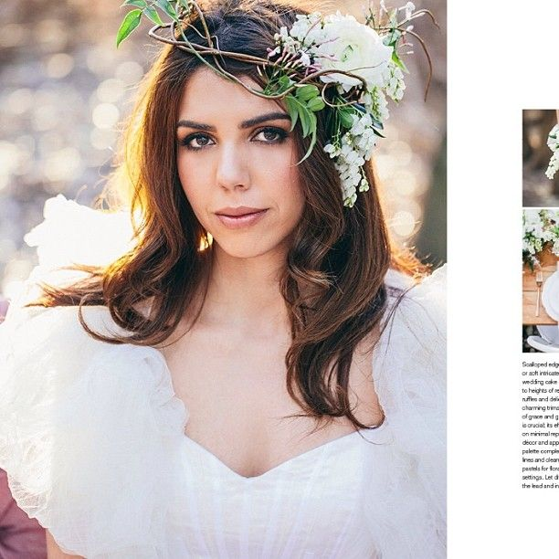 flower crown for White Magazine styled shoot by Ashdown & Bee photographer: Hannah Blackmore Photography