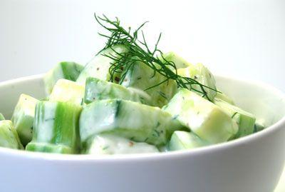 Cucumber yogurt salad | Foooooood | Pinterest