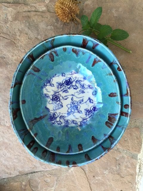 Nesting Bowl set of 2 handmade ceramic large bowl fruit bowl salad bowl serving dish pasta bowl serving bowls unique pottery kitchen gifts by ManuelaMarinoCeramic on Etsy