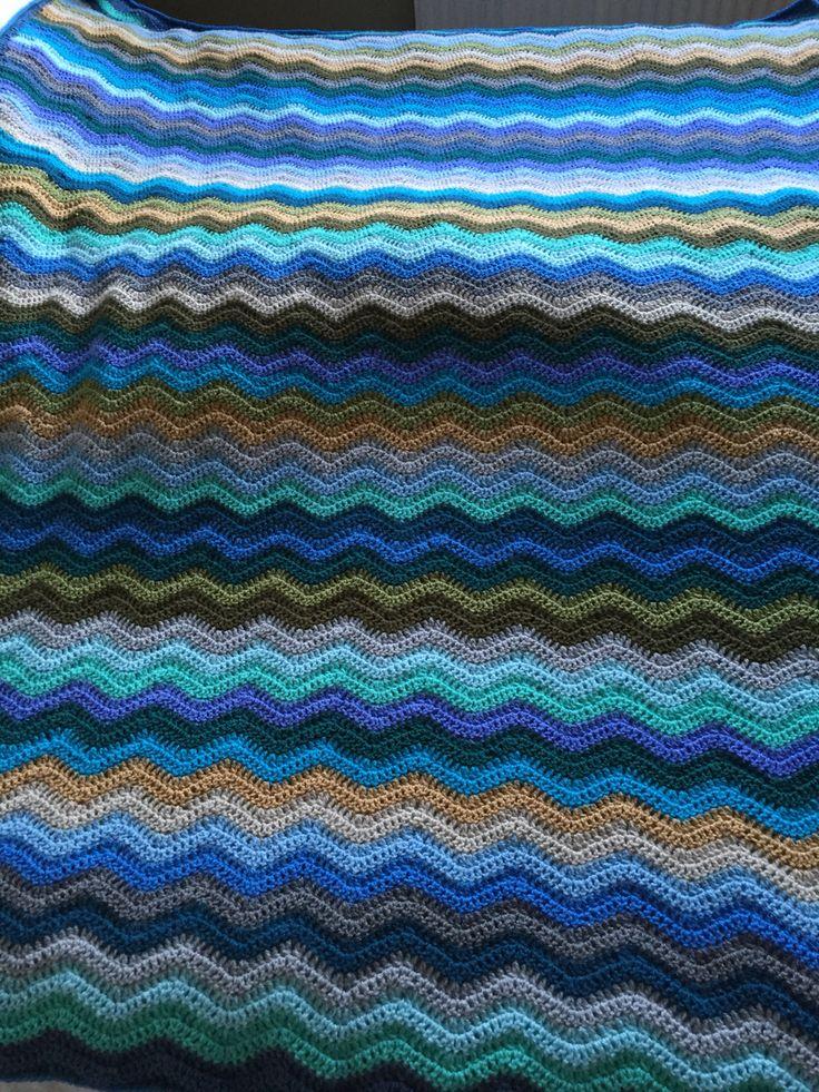 Coastal ripple blanket #attic24