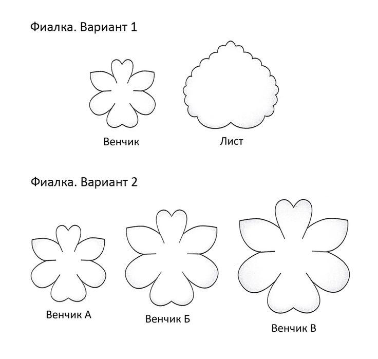 458 best flower-template images on Pinterest Fabric flowers - flower template