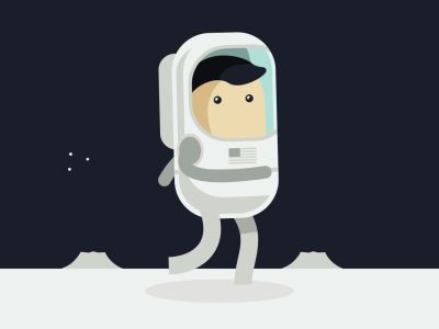 Space man walk #animation #gif