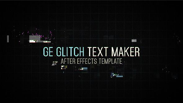 Ge Glitch Text Maker - After Effects Project Files | VideoHive