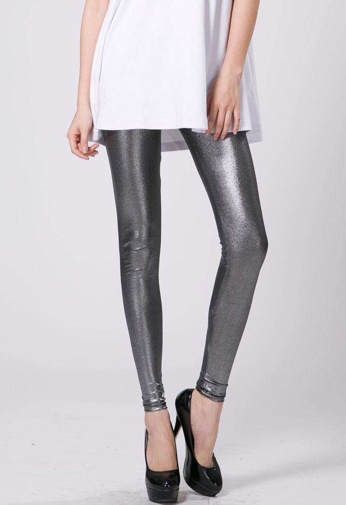 Silver Metallic Legging | From head to toe.. | Pinterest