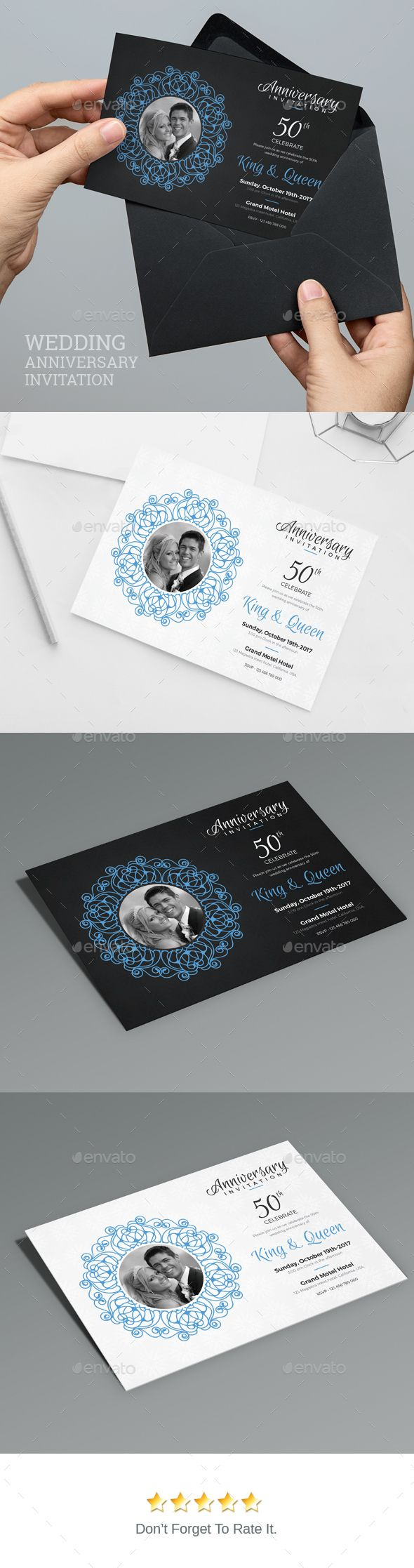 Anniversary Invitation by artBeta Modern WeddingMarriage Invitation