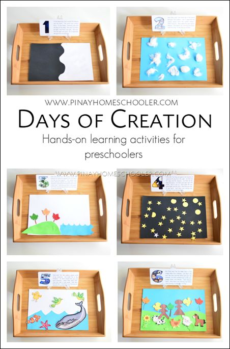 days of creation crafts for preschoolers