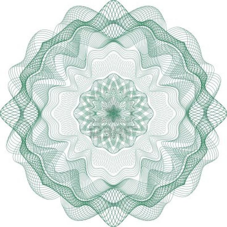 Guilloche moiré pattern