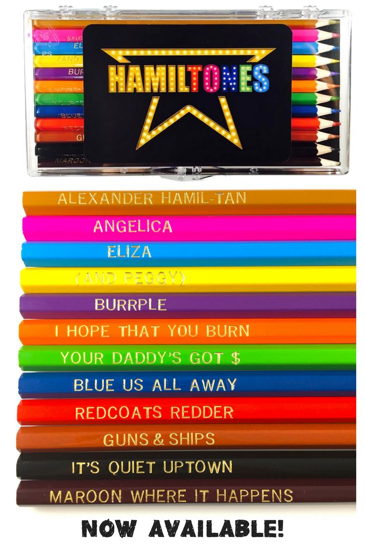 Hamilton Colored Pencils Now Available!