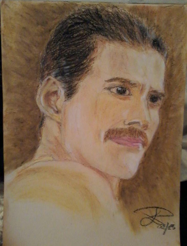 Portrait. oil pastels , cm 25X35 ca.