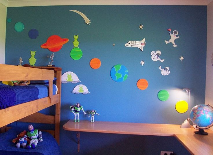 38 best images about new house boys room on pinterest for Outer space childrens decor
