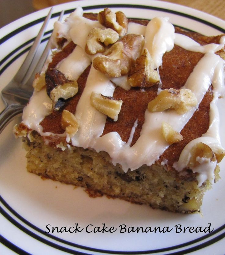 The Super Duet and Their Kitchen: Banana Bread Snack Cake