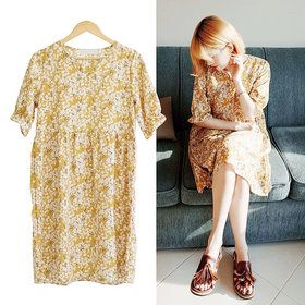 Gmarket - Dresses/V-Neck/Print/Flower/Loose Fit