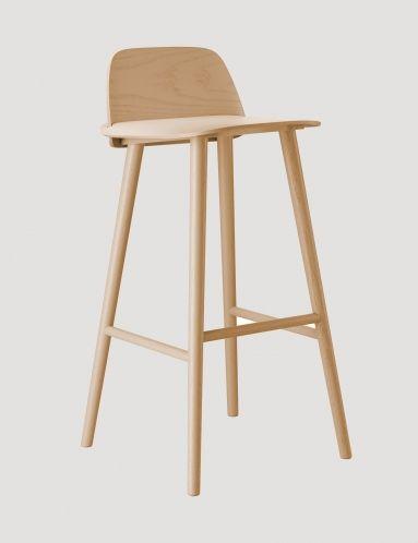 Nerd - Modern Scandinavian Design Bar Stool by Muuto - Muuto