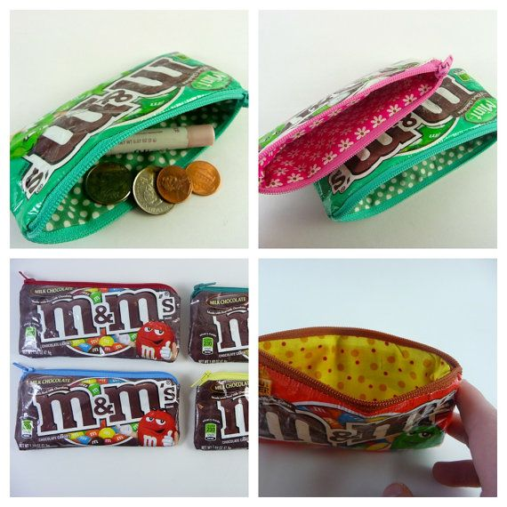M & M Candy Coin Purse set of 5 by BeneficialBento on Etsy, $35.00
