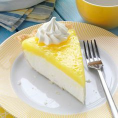 Lemon Supreme Pie Recipe from Taste of Home -- shared by Jana Beckman of Wamego, Kansas