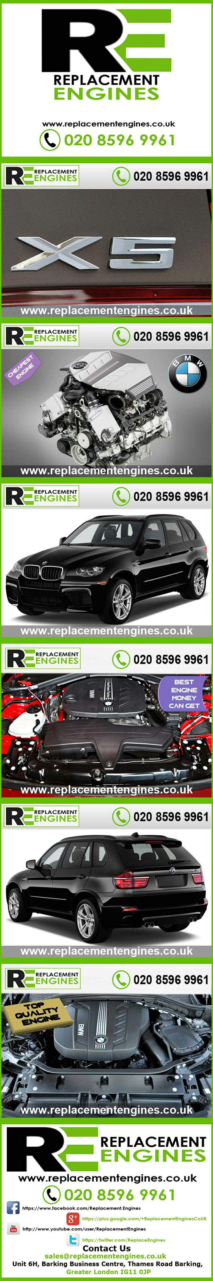 BMW X5 engines for sale at the cheapest prices, we have low mileage used & reconditioned engines in stock now, ready to be delivered to anywhere in the UK or overseas, visit Replacement Engines website here.