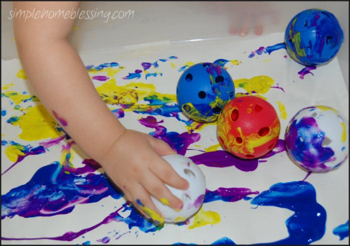 Wiffle Ball Painting | Simple. Home. Blessings
