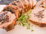 Receita Lombo de porco recheado com morcela e maçã, Fácil, Prato Principal