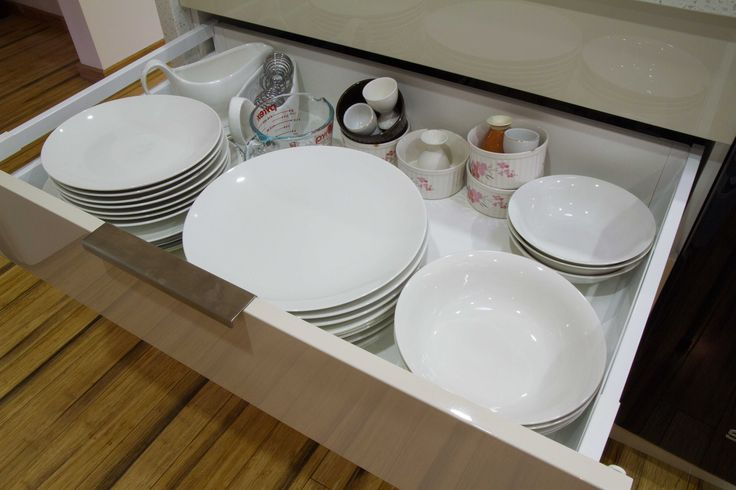 Plate drawer. Blum holds up to 80kg. www.thekitchendesigncentre.com.au