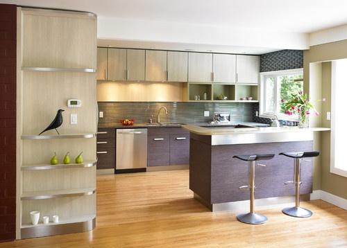 Los estantes entrando a la cocina, una super opcion!