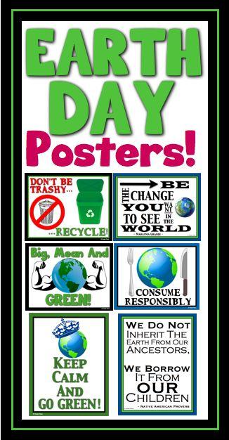 Earth Day Posters Earth Day Posters Earth Day Earth