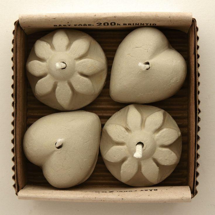 Ljusbringare Romantic, 4-pack miljövänliga, brinner på matolja och ersätter värmeljus