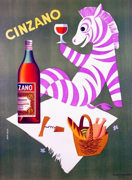 Cinzano | Vintage drink poster | Retro advert #Affiches #Food #Drinks #Ads http://www.proppingupthebar.com