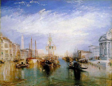 """Turner classic painting of light """"The Grand Canal, Venice"""" from the Porch of Madonna della Salute   ca. 1835"""