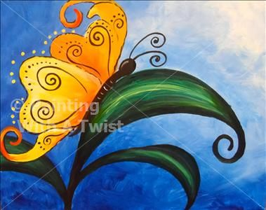 1000 ideas about butterfly painting on pinterest for Painting with a twist greenville tx