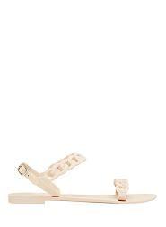 Chain Detail Jelly Sandal