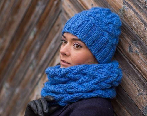 Как связать шарф снуд спицами. Cнуд спицами схемы вязания ...