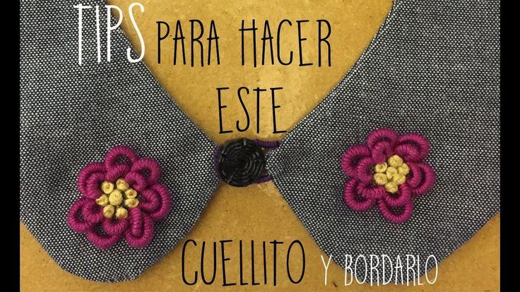 :::TIPS para hacer un cuellito y bordarlo::: PASO A PASO