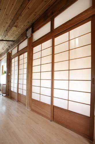 Cherry Tree Design Room Dividers | Sliding Shoji 26 (guest hallway)