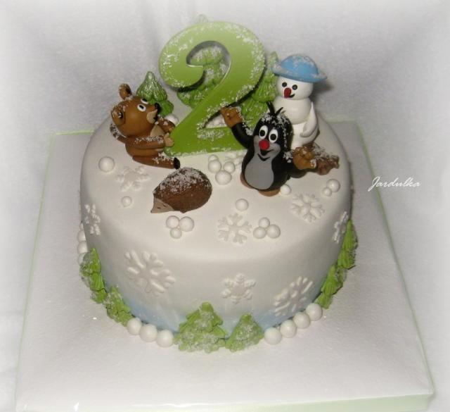 Krteček v zimě | dorty od mámy