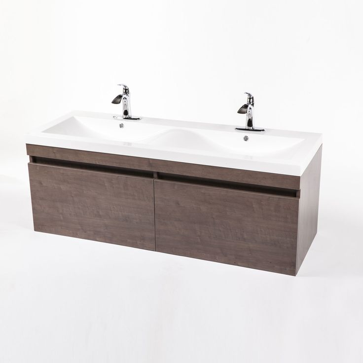 Photo Of Modern Walnut Double Sink Cabinet dotandbo