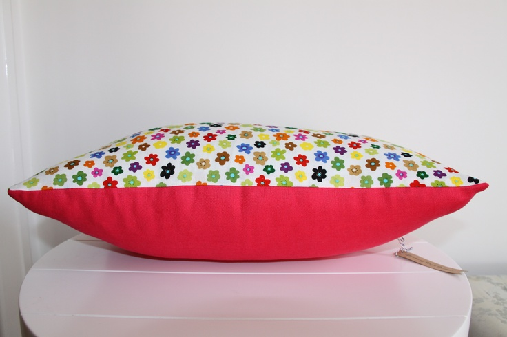 pops of colour.  25cm x 45cm breakfast cushion. $55 includes insert.