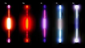 List of Noble Gases: These are colors that the noble gases glow when excited in gas discharge tubes.