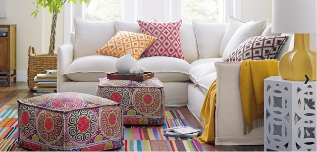 love the colours, patterns, everything about this modern moroccan interior