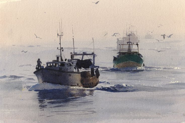 Nearly there, an original watercolour painting by Rob Piercy