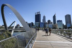TWA-0045884 © WestPix A view of the Perth CBD from Elizabeth Quay today. Pic: Michael Wilson The West Australian