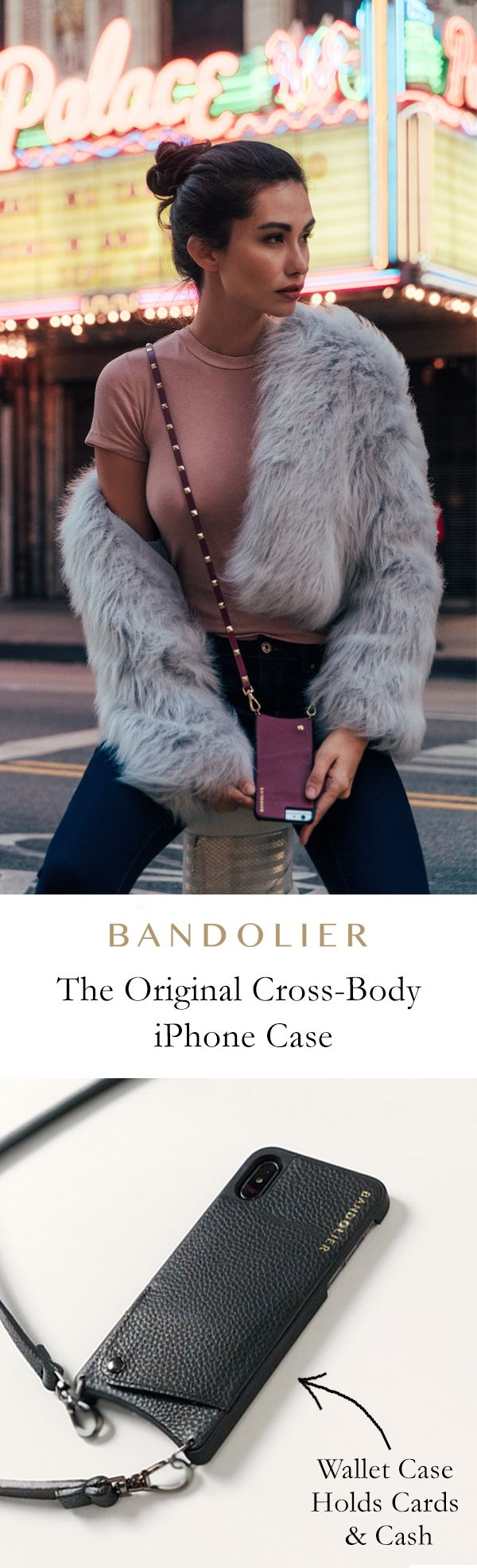 The original cross-body, luxury iPhone case with hidden pockets for credit cards, ID & cash. Available for iPhone X, 8/8+, 7/7+, 6s/6s+, 6/6+ Shop now!